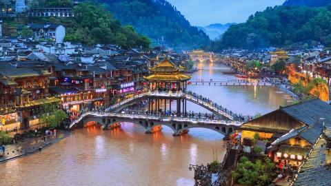 Trương Gia Giới - Phượng hoàng cổ trấn - Hồ Bảo Phong - Thiên Môn Sơn (bay VJ)